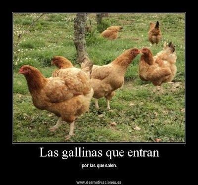 Las gallinas que entran por las que salen